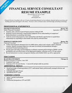 Financial services consultant resume