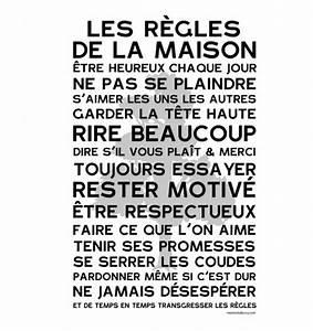 Affiche Les Regles De La Maison : affiche vintage mes mots d co affiche poster ~ Melissatoandfro.com Idées de Décoration