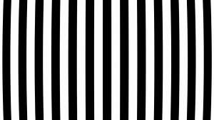 Animation black and white stripes warp space. Abstract ...