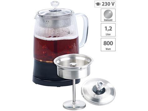 Und Teezubereiter by Rosenstein S 246 Hne Teezubereiter 2in1 Glas Teebereiter