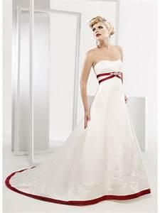 strapless red and white taffeta wedding dress sang maestro With red strapless wedding dresses