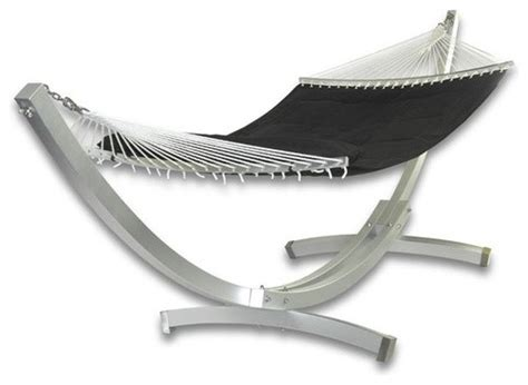 deluxe arc aluminum hammock with stand modern outdoor