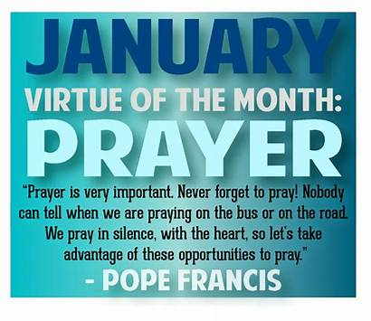 Prayer January Month Virtue Challenge Catholic Newsletter