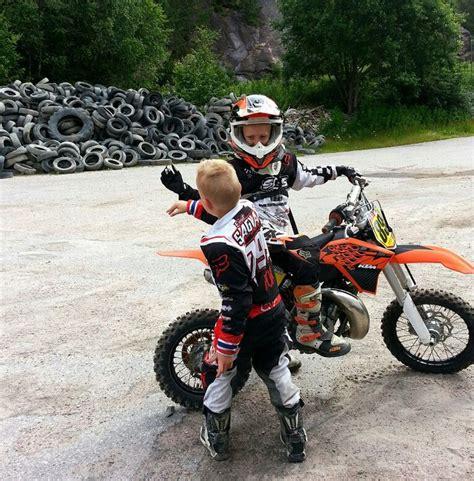 kids motocross high 5 to bigbrother ktm fox dirtbike kids high five