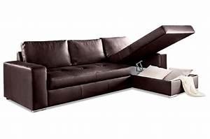 Sofa Mit Schlaffunktion Leder : aek leder ecksofa florentina mit schlaffunktion braun ~ Bigdaddyawards.com Haus und Dekorationen