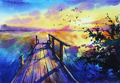 watercolor painting on plexiglass 53 easy watercolor painting ideas for beginners visual