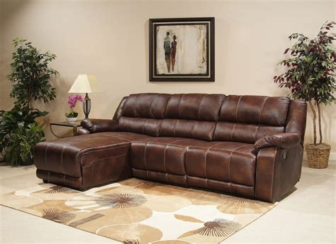 brown leather chaise sofa leather brown sectional with chaise and recliner prefab