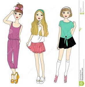 Cartoon Fashion Girl