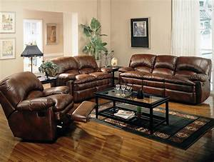 Rich, Brown, Bonded, Leather, Modern, Reclining, Sofa, W, Options