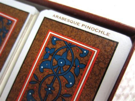 deck two handed pinochle vintage arabesque pinochle kem plastic by corrnucopia