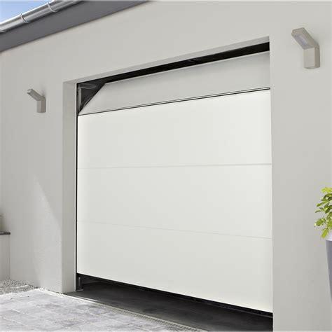 porte de garage sectionelle motoris 233 e chypre rainures horizontales 200x240 cm leroy merlin
