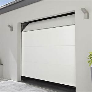 porte de garage sectionelle motorisee chypre rainures With porte de garage enroulable avec leroy merlin porte pvc
