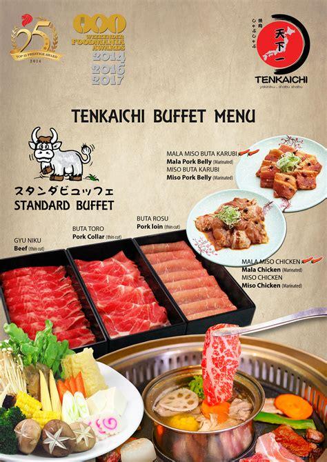 Buffet Menu - Tenkaichi Japanese BBQ Restaurant