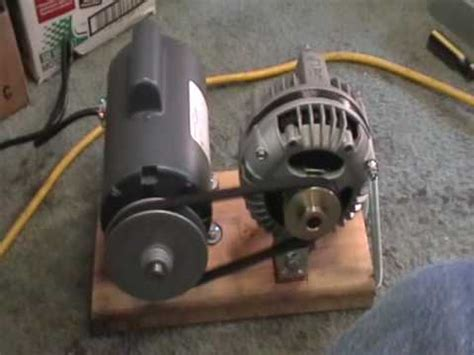 Electric Motor Power by Maxflow 3 Phase Alternator Mounted With 1 2 Hp Electric