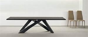 Table Bois Metal Avec Rallonge : table a manger design bois ~ Teatrodelosmanantiales.com Idées de Décoration