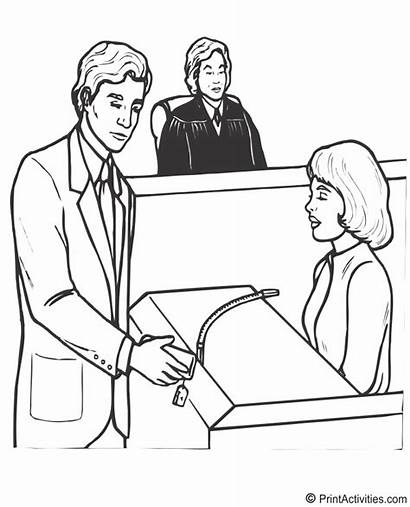 Coloring Lawyer Bank Teller Lawyers Law Order