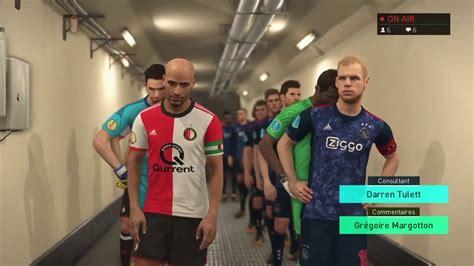 feyenoord ajax pes  pc dutch eredivisie regular season youtube