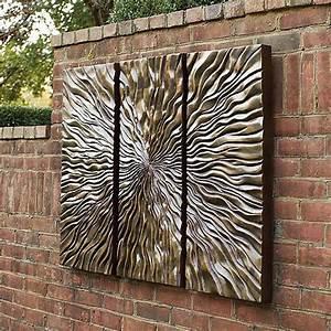 Sunburst triptych wall art frontgate modern artwork