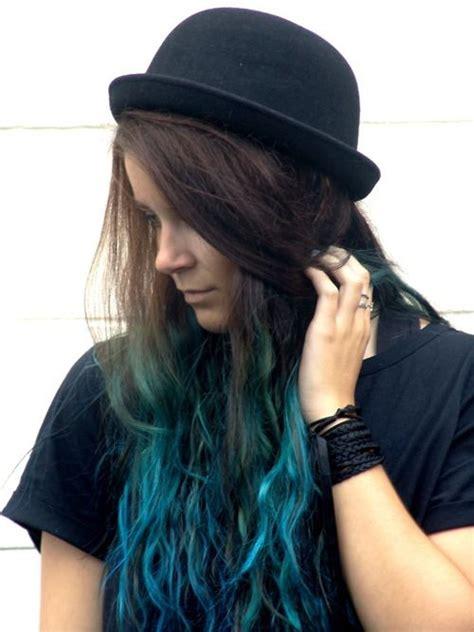 Turquoiseblue Dip Dyeombre Hair Luuux S T Y L E H A