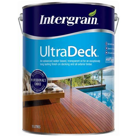 intergrain  ultradeck jarrah water based decking oil