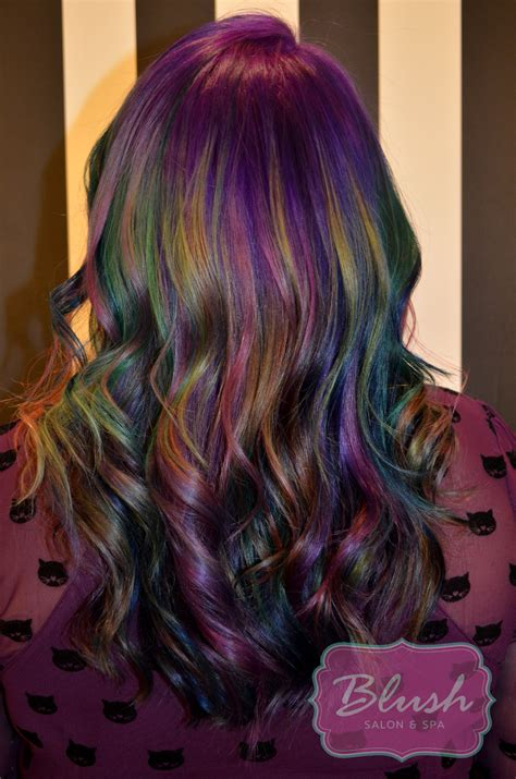 Weve Noticed A New Trend Among Stylists Oil Slick Hair