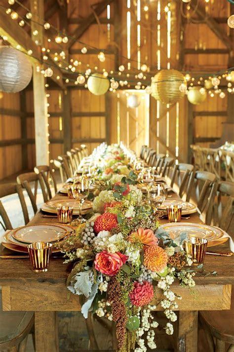 table charts for wedding reception 30 barn wedding reception table decoration ideas