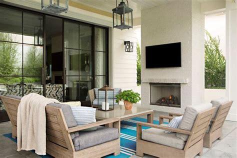 interior design ideas outdoor fireplace patio