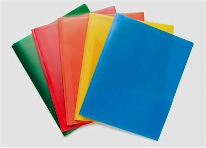 Folders Colored Document Plastic Multi Stationery Folder