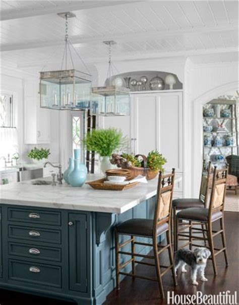 teal kitchen island 14 colorful kitchen island ideas the turquoise home