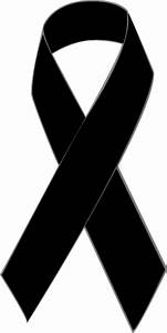 Clip Art of a Black Awareness Ribbon: Black Awareness ...