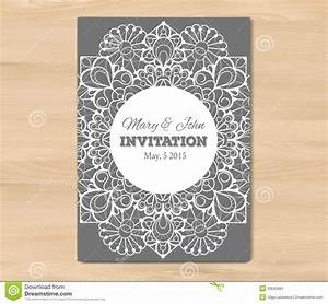 wedding invitation card template stock vector image With vintage wedding invitation with lace free vector