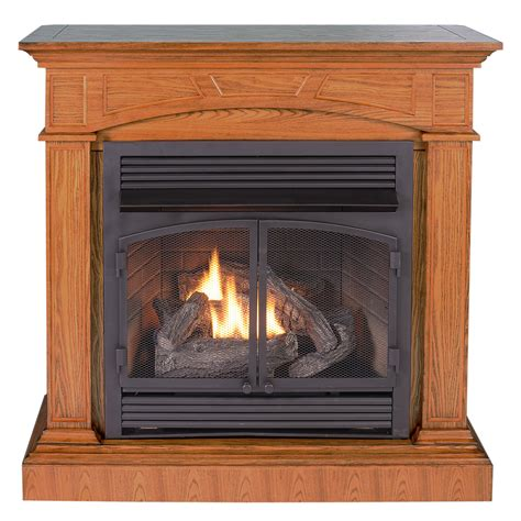 Ventless Fireplace System With Dual Fuel Technology