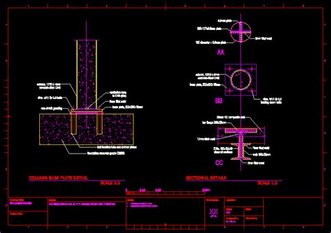 foundations details  autocad cad   kb