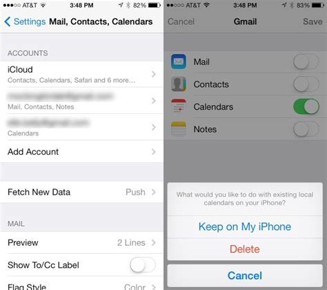 sync your calendar to your iphone or or both