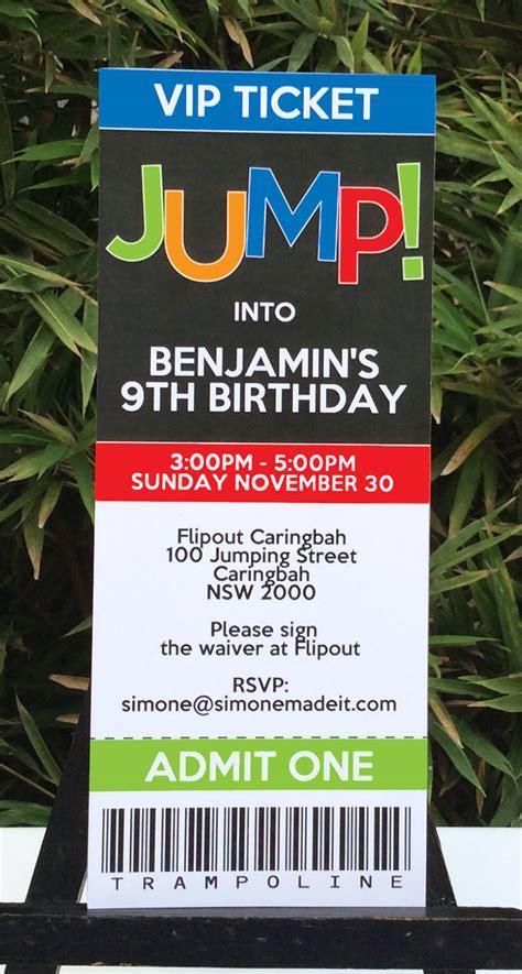 Trampoline Party Printables Invitations De Ions