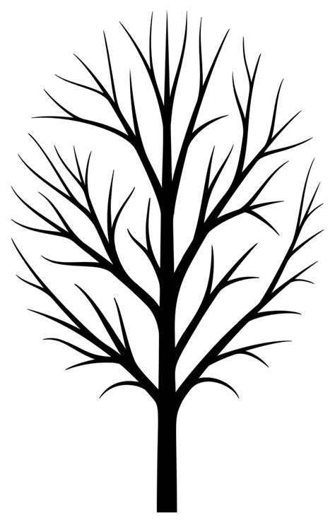 onlinelabels clip art skinny tree silhouette