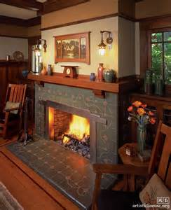 Arts And Crafts Tile Fireplace