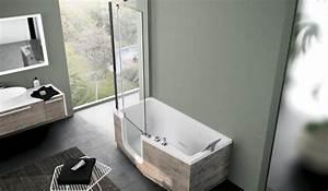 combine baignoire douche une baignoire et une douche With baignoire douche a porte