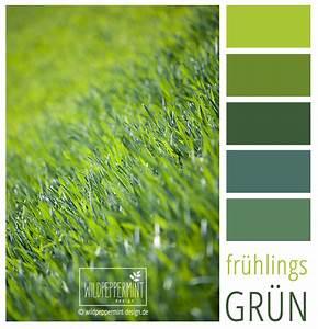 Wandfarbe Grün Palette : farbpalette frisch gr ne farbinspiration fr hling gr n gr nt ne wildpeppermint design ~ Watch28wear.com Haus und Dekorationen