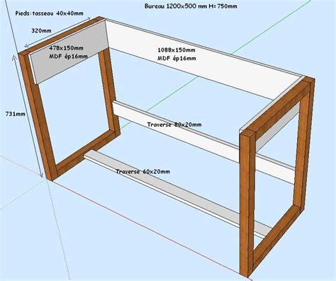 fabriquer bureau pieds de bureau et stabilit 233