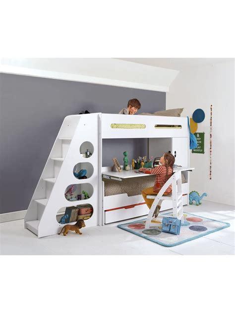 bureau lit lit mezzanine enfant pour combiné évolutif combibed