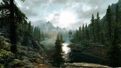 Skyrim Scenery Wallpapers Scenic Nexus Mods Background