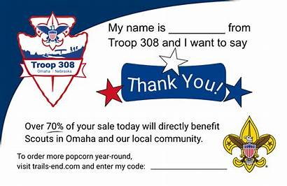 Troop Customer Thankyou Bsa Thank Give Scouts
