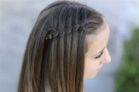 easy waterfall braid tutorial     waterfall braid