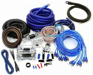 0 Gauge  U0026 4 Gauge 2 Way 8500w 3 Rca Wire Amp Kit Install