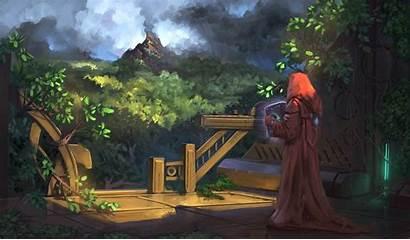 Sorcerer Forest Fantasy Jeremy Adams Wallha