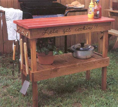 woodwork barbecue table plans  plans