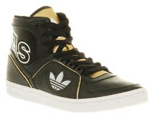 Adidas Shoes High Tops Gold