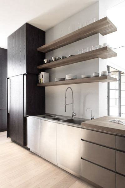 stainless steel kitchen shelves ideas
