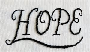 Faith Hope Word Art